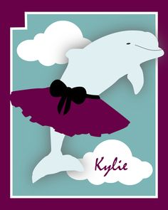Personalized Dolphin Tutu poster print 8x10 by dMariePapeterie, $22.00