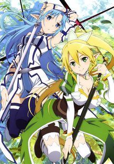 Sword art online - lyfa and asuna