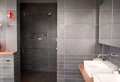 House Tour Modern Bathroom Open Shower Stall