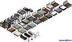 IKEA_Мебель_R15 - Библиотека семейств для Revit