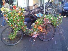 Flower shop on wheels.
