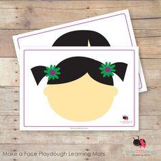 Make a face playdough mats, children create different facial expressions from playdough!