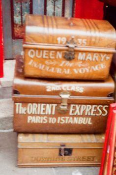 Old suitcases by misstinguette, via Flickr
