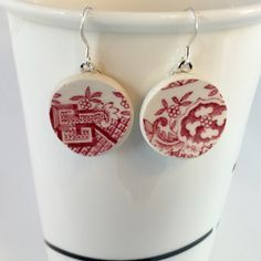 80s china earrings - Google Search