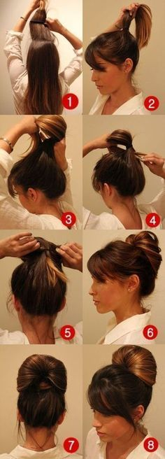 DIY: Penteado fofo pra você fazer sozinha Hair makeup Unless you have been living under a rock I am sure you are well aware the hair scrunchie trend is back. Work Hairstyles, Braided Hairstyles, Wedge Hairstyles, Trendy Hairstyles, Hairstyles Videos, Everyday Hairstyles, Wedding Hairstyles, Ladies Hairstyles, Brunette Hairstyles