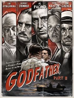 BROTHERTEDD.COM Best Movie Posters, Classic Movie Posters, Cinema Posters, Movie Poster Art, The Godfather Part Ii, Godfather Movie, The Godfather Poster, Old Movies, Vintage Movies