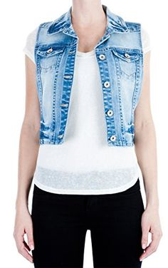 WallFlower Juniors Classic Denim Vest ** You can find more details by visiting the image link.