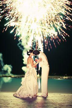 Idea para una boda - fuegos artificiales! El broche de oro de una noche mágica!