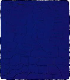 Yves Klein Blue 47  One of his famous blue monochromes from the mid-fifties to the early sixties.