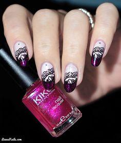 Nail Art Purple French