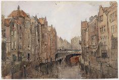 Dordrecht, de Voorstraatshaven. Waterverf op Papier. UBL01_PK-T-AW-4755_X.JPG (1500×1008)
