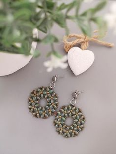 Beaded Earrings Patterns, Seed Bead Earrings, Diy Earrings, Beading Patterns, Beaded Jewelry, Handmade Jewelry, Seed Beads, Diy Jewelry, Twin Beads