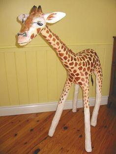 Giraffe 4.5ft tall - Papier-mache #sculpture