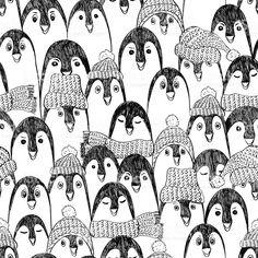 Motif sans couture motif avec pingouins. cliparts vectoriels libres de droits