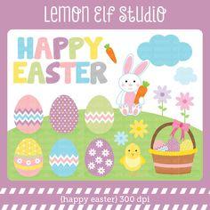 Happy Easter-Digital Clipart (LES.CL23) – Lemon Elf Studio
