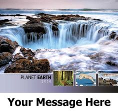 2016 Planet Earth - Environmental Awareness - Promotional Calendar Cover. Imprinted with your Business, Organization or Event Name and Logo As Low As 65¢.