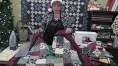 Quilt An Adorable Christmas Tree Skirt (+playlist)  Unique Mitered Border Edge Included on this Tutorial...