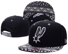 245623ef80a Mens San Antonio Spurs New Era NBA HWC Hardwood Classics Cross Colors Aztec  Visor 9FIFTY Snapback Cap - Black