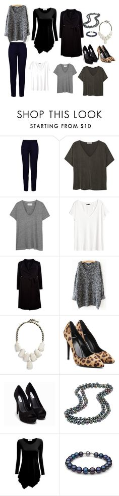 """""""Black pants - Summer Capsule"""" by jasmin-charron ❤ liked on Polyvore featuring STELLA McCARTNEY, MANGO, The Great, H&M, New Look, Kendra Scott, Pierre Hardy, Nly Shoes and DaVonna"""