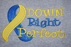 Down Syndrome Awareness Appliqued Tshirt by JohnsonSquadDesigns, $22.00