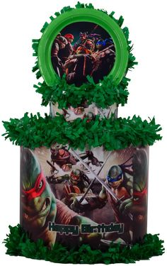 World of Pinatas - Ninja Turtles Personalized Pinata, $39.99 (http://www.worldofpinatas.com/ninja-turtles-personalized-pinata/)