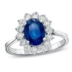 Oval Blue Sapphire Ring - so I can feel like Kate Middleton