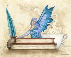 Amy Brown, Brown Art, Book Drawing, Fairy Art, Book Fairy, Book Tattoo, Dark Elf, Fantasy Artwork, Angels And Demons