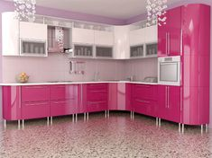 Interior Design Trends Pink Kitchen - Home Decor Kitchen Room Design, Kitchen Cabinet Design, Kitchen Cabinetry, Modern Kitchen Design, Home Decor Kitchen, Kitchen Interior, Kitchen Ideas, Home Design, Interior Design Trends
