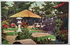 Japanese Tea Garden Golden Gate Park San Francisco CA Vintage Postcard B9