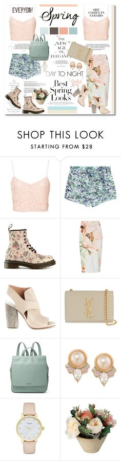 """""""DAY TO NIGHT <3"""" by advent68 ❤ liked on Polyvore featuring NLY Trend, STELLA McCARTNEY, Dr. Martens, H&M, M&S, Maison Margiela, Yves Saint Laurent, FOSSIL, Carolee and Kate Spade"""