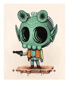 Greedo by Mike Mitchell | Publication source unknown please send credits info to Optimystique1