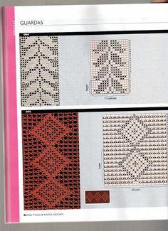 80 Gráficos de Crochet para Aprender a Fazer - Arte que Faz: Artesanato e Decoração Filet Crochet, Crochet Borders, Crochet Lace, Crochet Patterns, Create Picture, Picasa Web Albums, Crochet Books, Lace Border, Double Crochet
