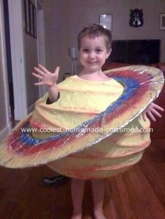 hats off to the parent that crafted this incredible planet costume