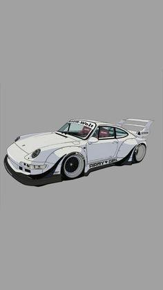 Porsche, Cool Car Drawings, Car Backgrounds, Street Racing Cars, Drifting Cars, Car Illustration, Tuner Cars, Car Posters, Futuristic Cars