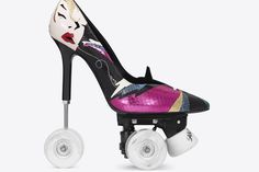 So, Saint Laurent have released stiletto rollerskates