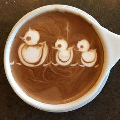 Tatlong Bibes = 3 ducks in #coffee