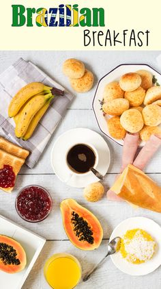 Take a sneak peek at the traditional Brazilian breakfast! It offers coffee, fruit, cheese bread, couscous and other delicious foods! | cookingtheglobe.com