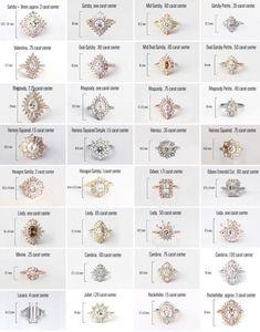 Heidi Gibson Designs ring guide - I Do. Wedding Engagement, Wedding Bands, Engagement Rings, Wedding Ring Guide, Wedding Reception, Gatsby Ring, The Bling Ring, Bling Bling, Types Of Rings