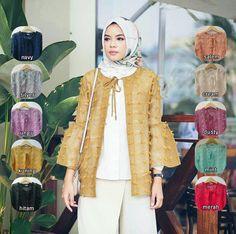Cardigan / Ruby Outer linen rubiah, Outerwear berbahan linen rubiah yang sedang kekinian, dengan variasi tali depan, bagian tangan mengembang sehingga leluasa untuk berwudhu. Cantik