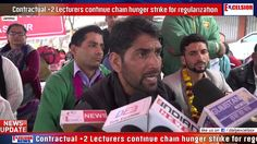 Contractual 2 Lecturers continue chain  hunger strike for regularization