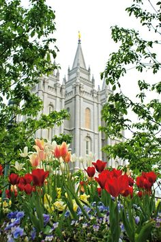 LDS Salt Lake Temple canvas print on etsy
