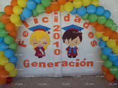 decoración con globos para graduación preescolar - Buscar con Google