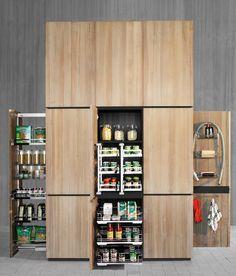 Solid wood high cabinets with oven NATURAL SKIN MONOLITI - Minacciolo