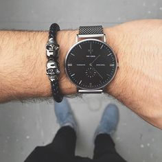 Fan Pic Of The Day !   While out and about, @zalimefendi posted a cool photo of his watch  paired with our Black Nappa Leather / Gunmetal Twin Skull Bracelet. Nice combo !   Available at Northskull.com   For a chance to get featured post a cool photo of your Northskull jewelry with the tag #Northskullfanpic on Instagram.