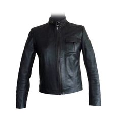 The Azrou  Highly Stylish jacket made from the finest Moroccan lambskin leather. Trendy urban style, hand-crafted to your exact requirement. Available in a large choice of leather colors, seam colors, linings and pocket options.