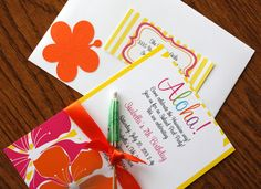Invitations at a Luau Party #luau #party