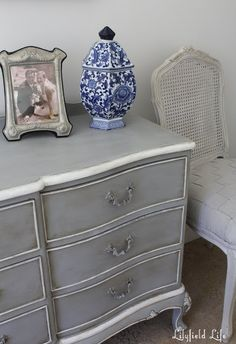 French Châteaux Chest of Drawers in Paris Grey