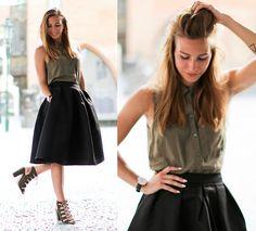 More looks by Eliska H.: http://lb.nu/user/836748-Eliska-H  #classic #elegant #formal #midiskirt #skirt #midi #sandals #heels…