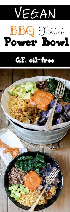 BBQ Tahini Power Bowl | www.veggiesdontbite.com | #vegan #glutenfree #oilfree…