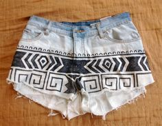 DIY aztec shorts!!! maybe-i-can
